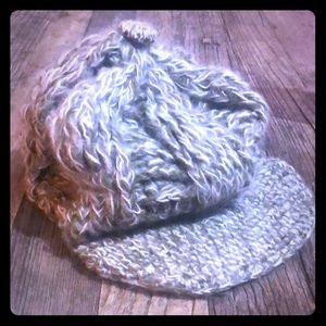 Wool knit hair with brim